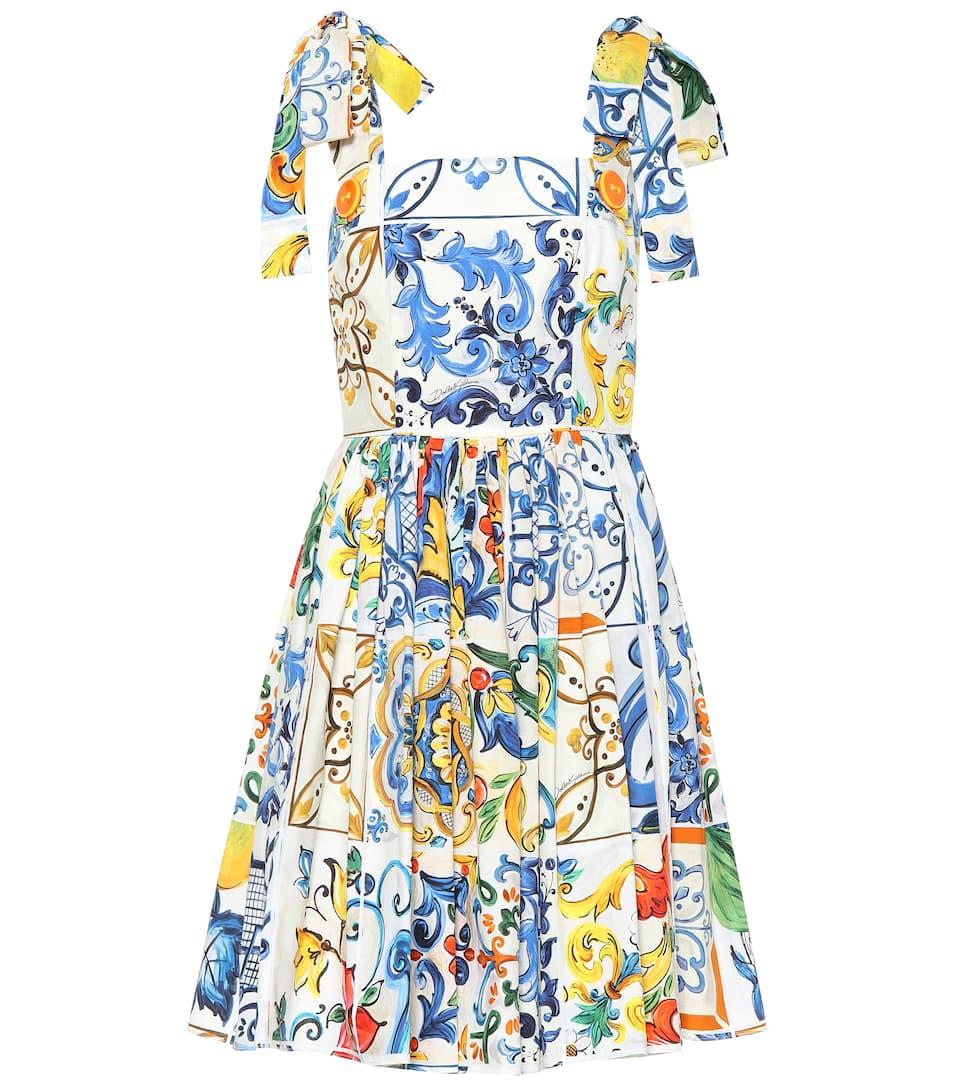 dbfe1b718a98 Dolce & Gabbana - Majolica sleeveless cotton dress | Mytheresa