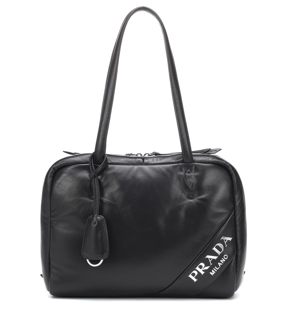 Leather Shoulder Bag - Prada   mytheresa.com a84aa4d318