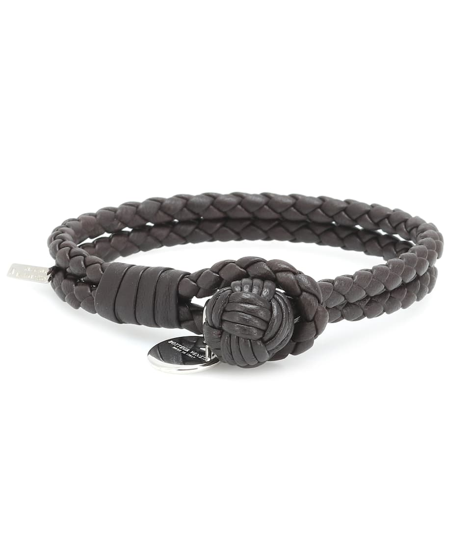 Knot Intrecciato Leather Bracelet Bottega Veneta Mytheresa