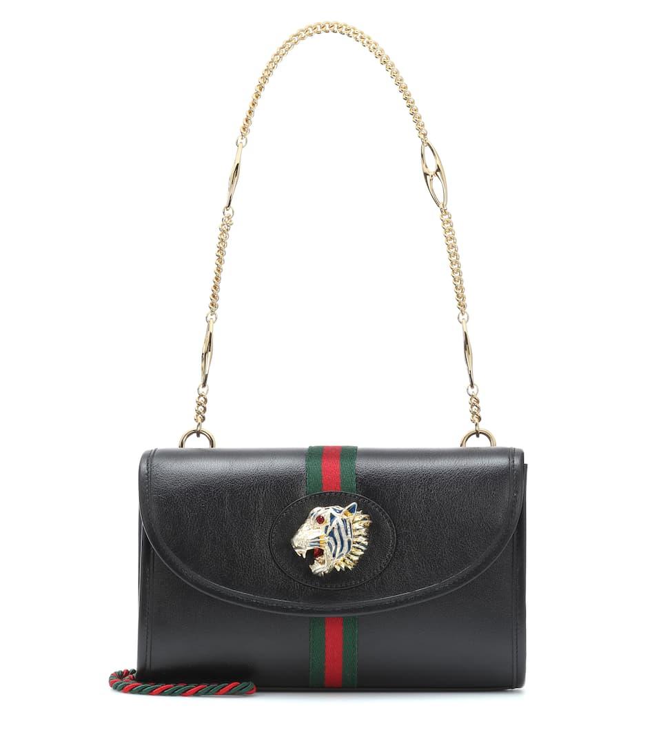 8f175f7e9881 Rajah Small Leather Shoulder Bag - Gucci | mytheresa.com