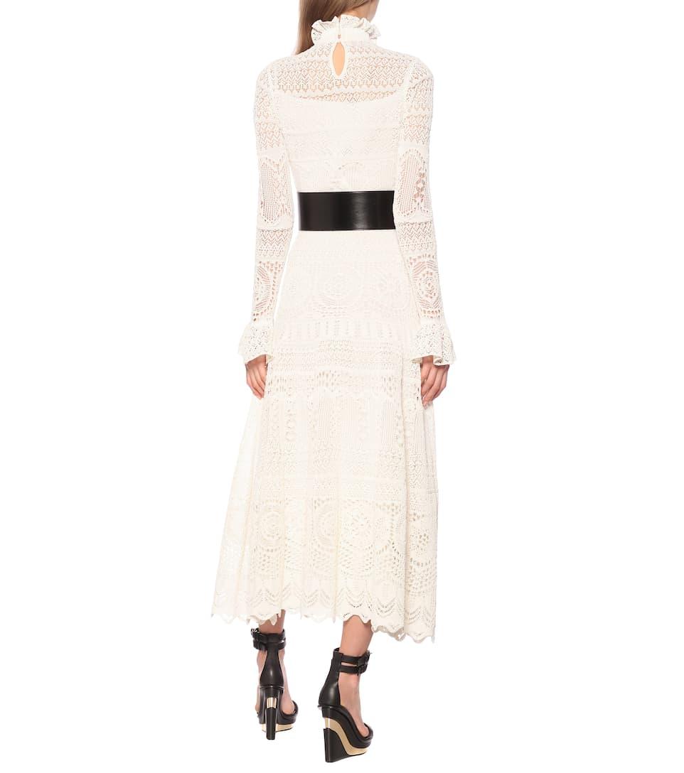 Alexander McQueen - Cotton-blend midi dress