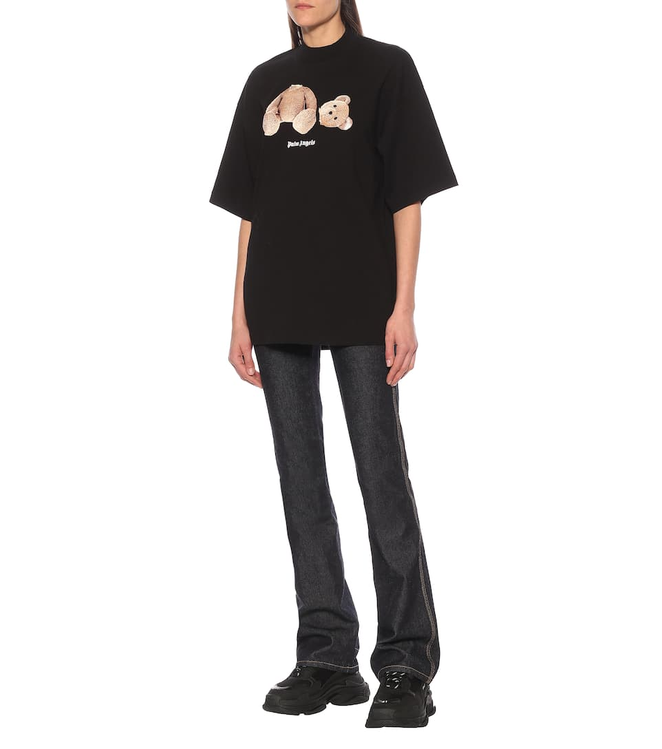 Palm Angels - Printed cotton T-shirt