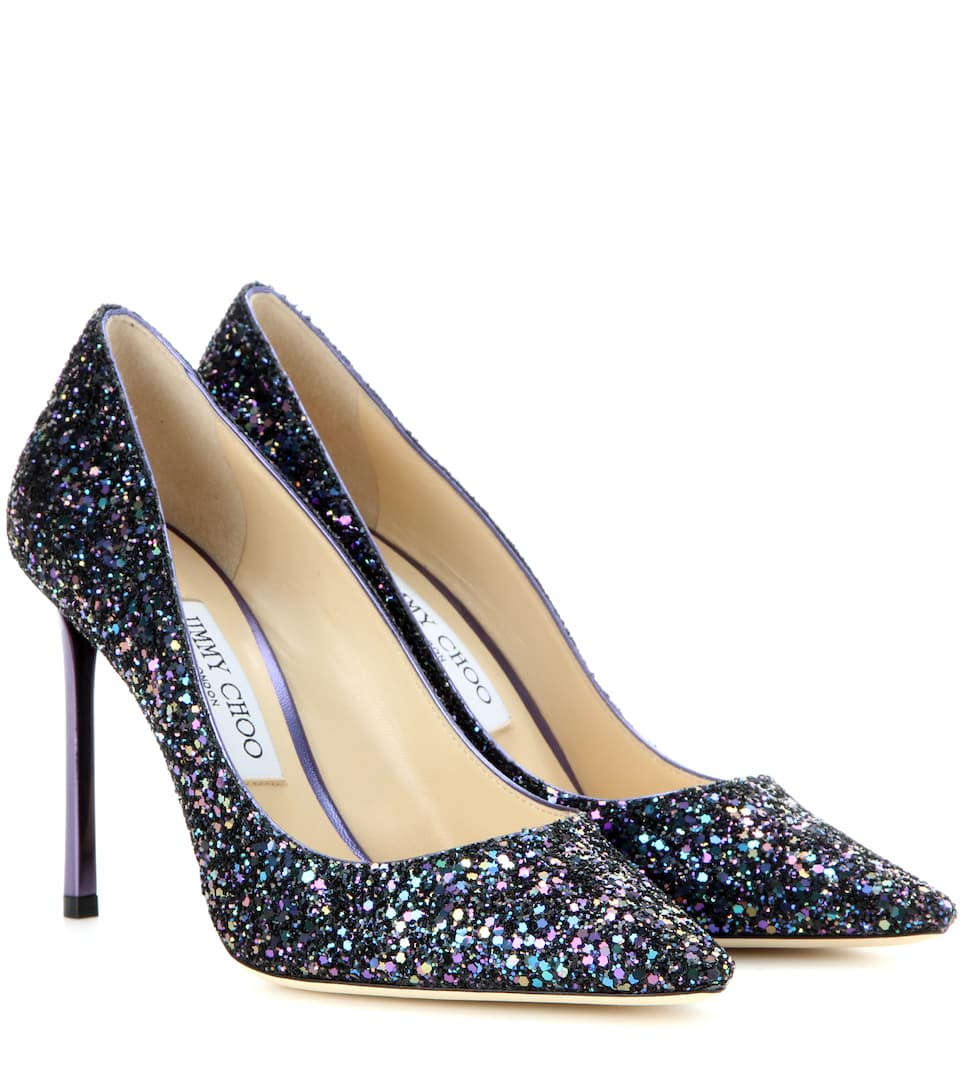 romy 100 glitter pumps jimmy choo. Black Bedroom Furniture Sets. Home Design Ideas