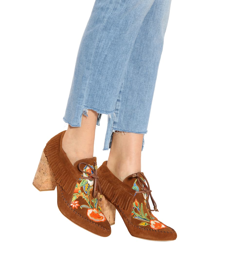 Tory Burch Huntington fringe suede booties Cheap Low Price Fee Shipping Outlet Visit JNQhW