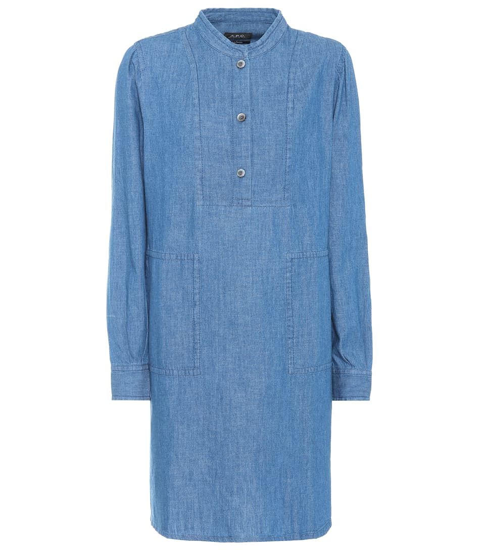 A.P.C. Kleid Saffron aus Chambray