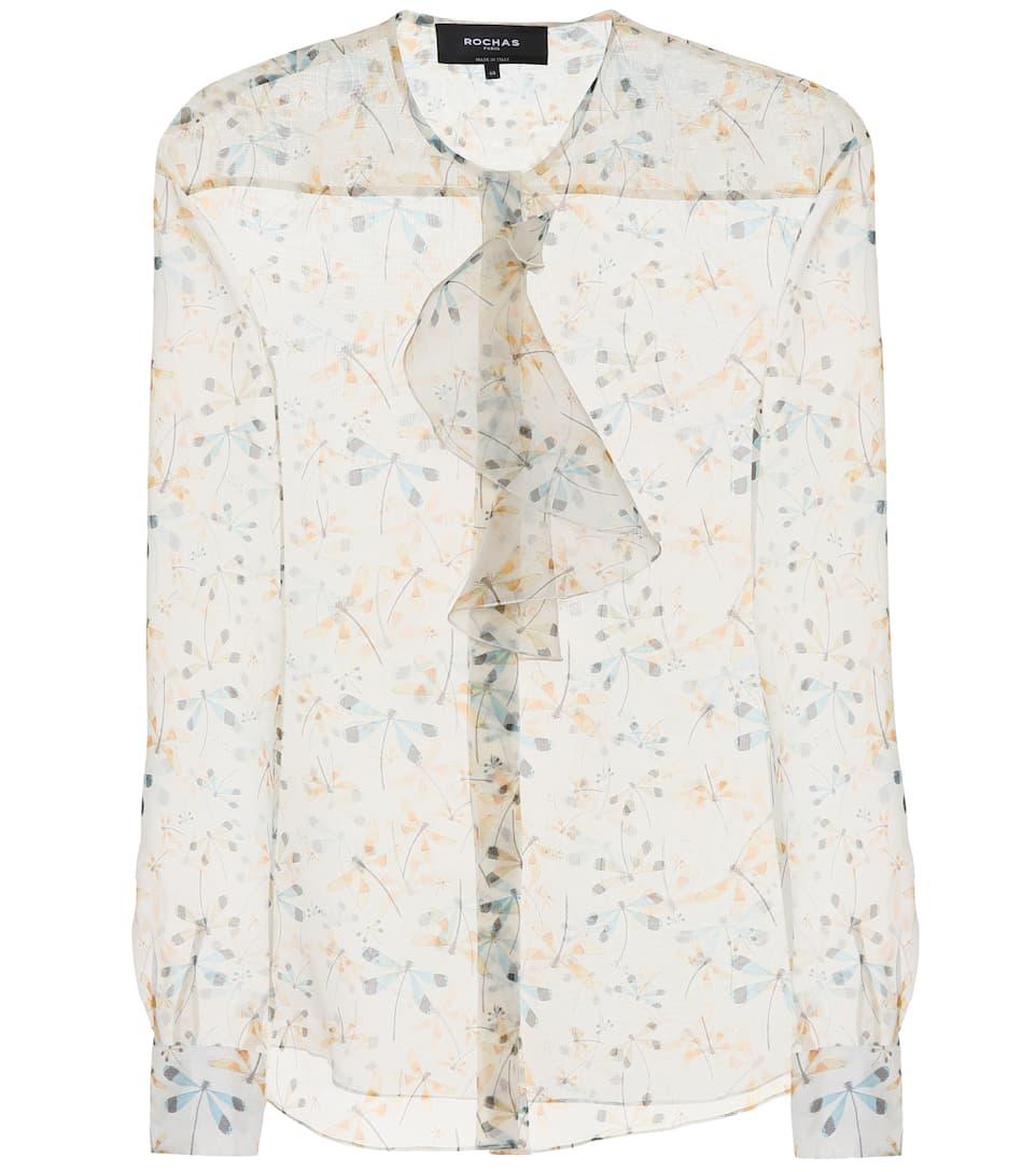 Printed Silk Blouse, Multicoloured