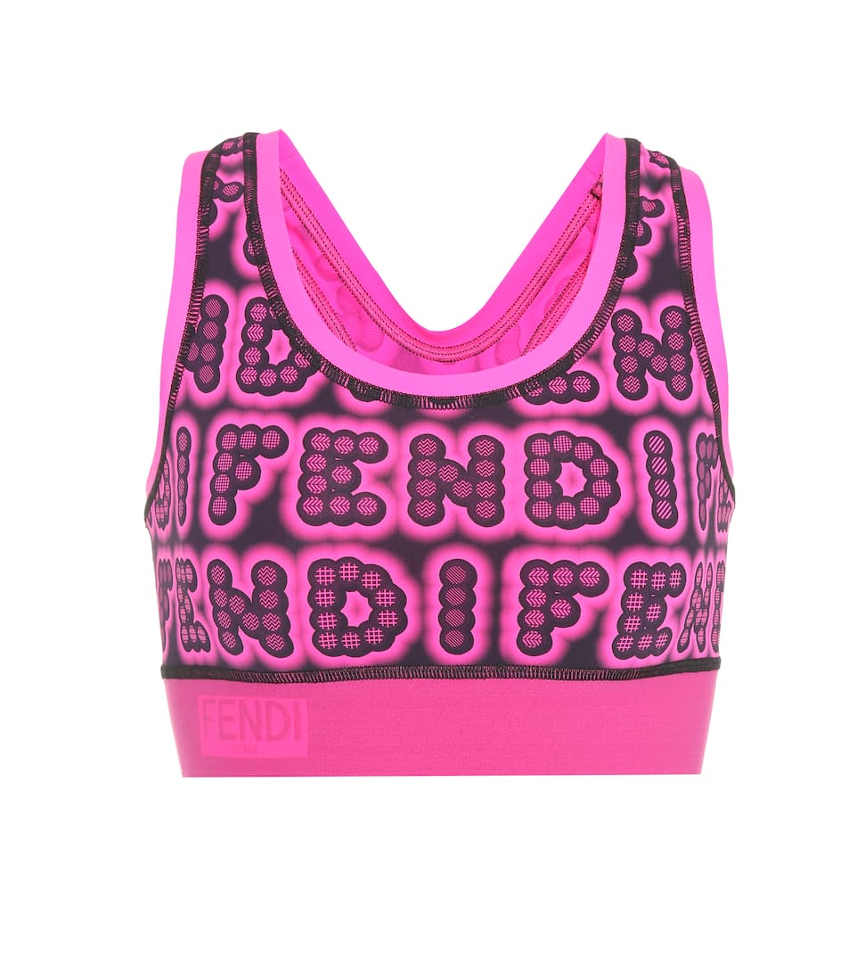 Fendi Top mit Logoprint