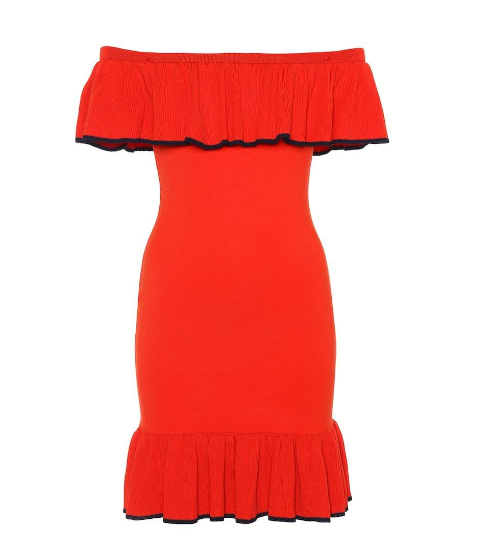Rebecca Vallance Off-Shoulder-Minikleid mit Volants Wie Viel Online xACNQ