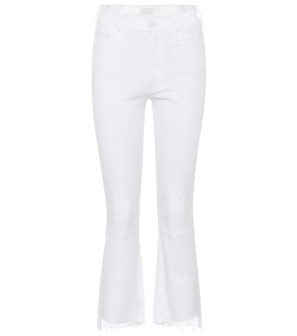 Mother Jeans Insider Cropped Step Fray