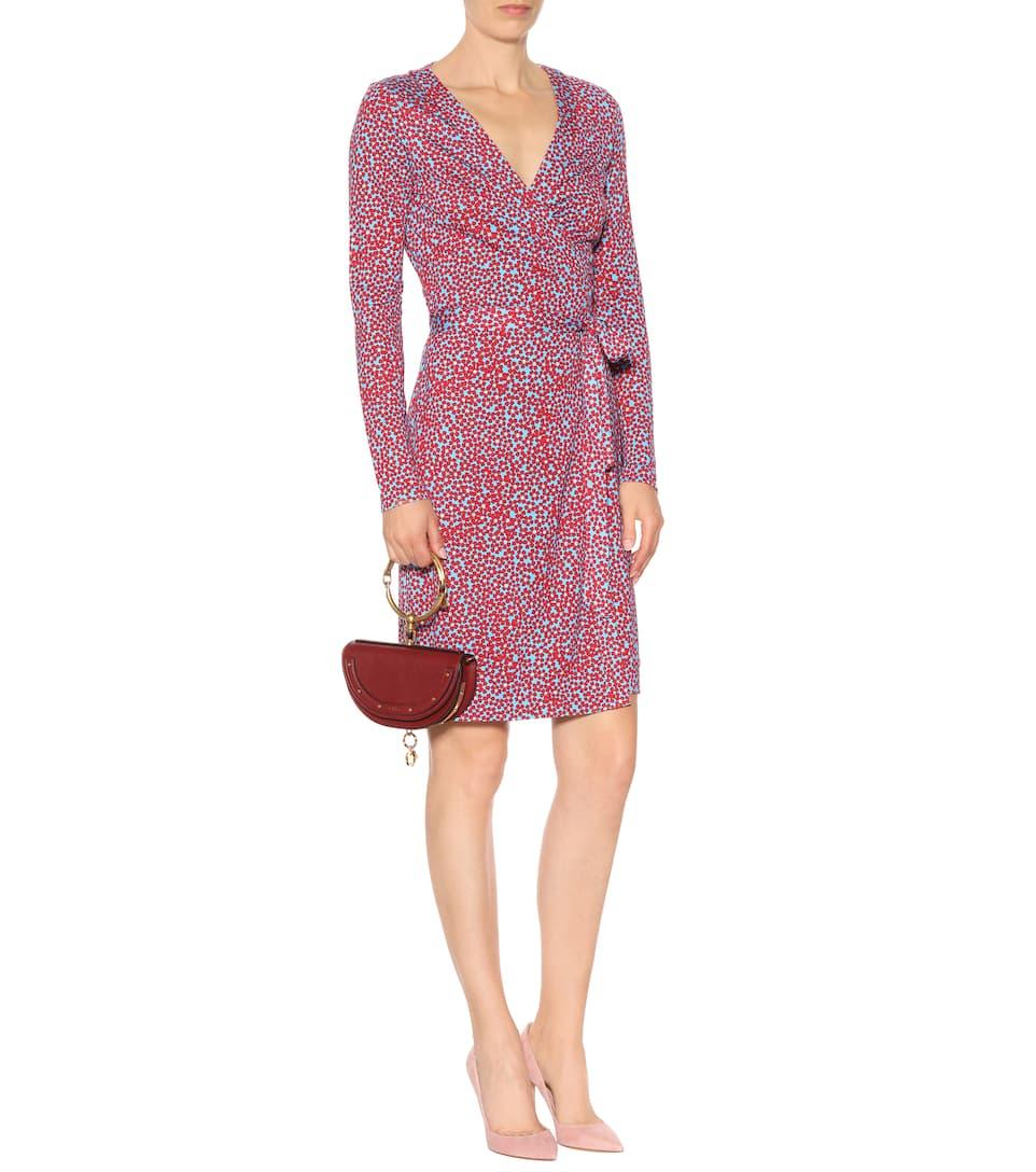 Floral-Printed Silk Wrap Dress - Diane von Furstenberg officiel R6D1GuNHv