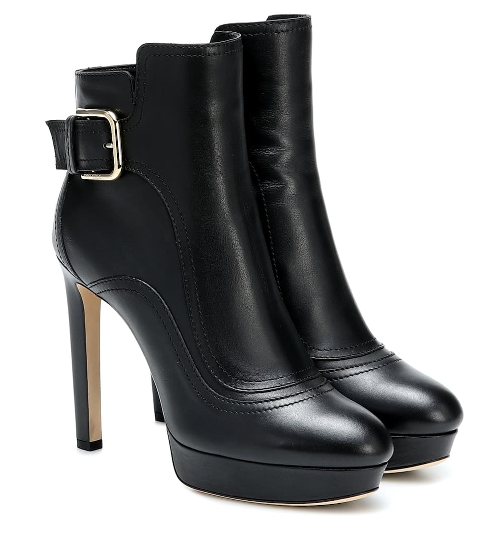 Jimmy Choo High heels BRITNEY 115 LEATHER ANKLE BOOTS