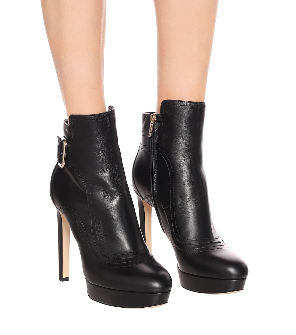 a914b41b9369 Britney 115 Leather Ankle Boots - Jimmy Choo
