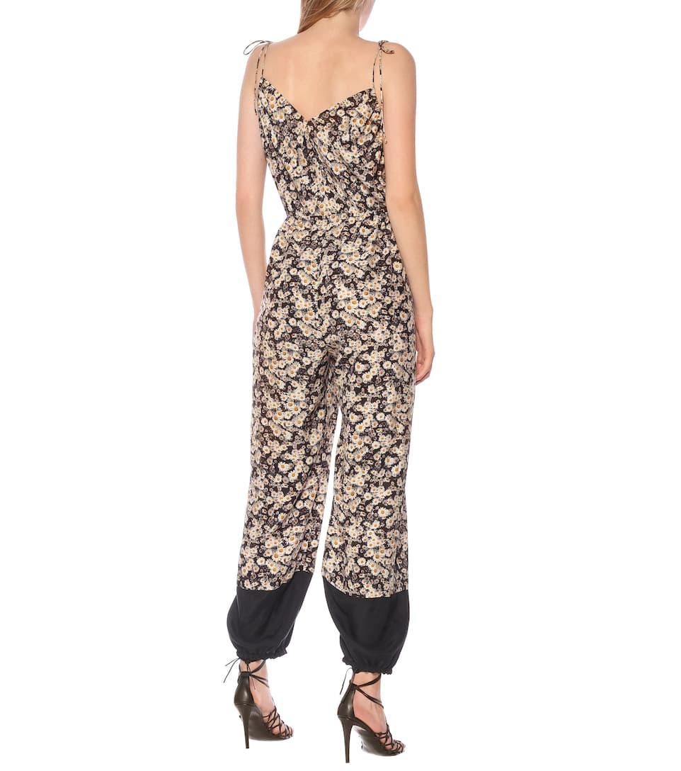 Sienna Floral Silk Jumpsuit - Stella McCartney