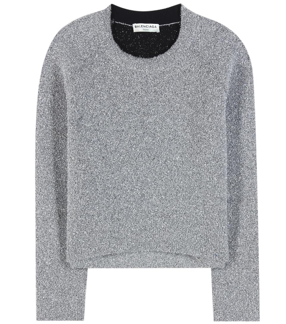 Balenciaga Metallic sweater