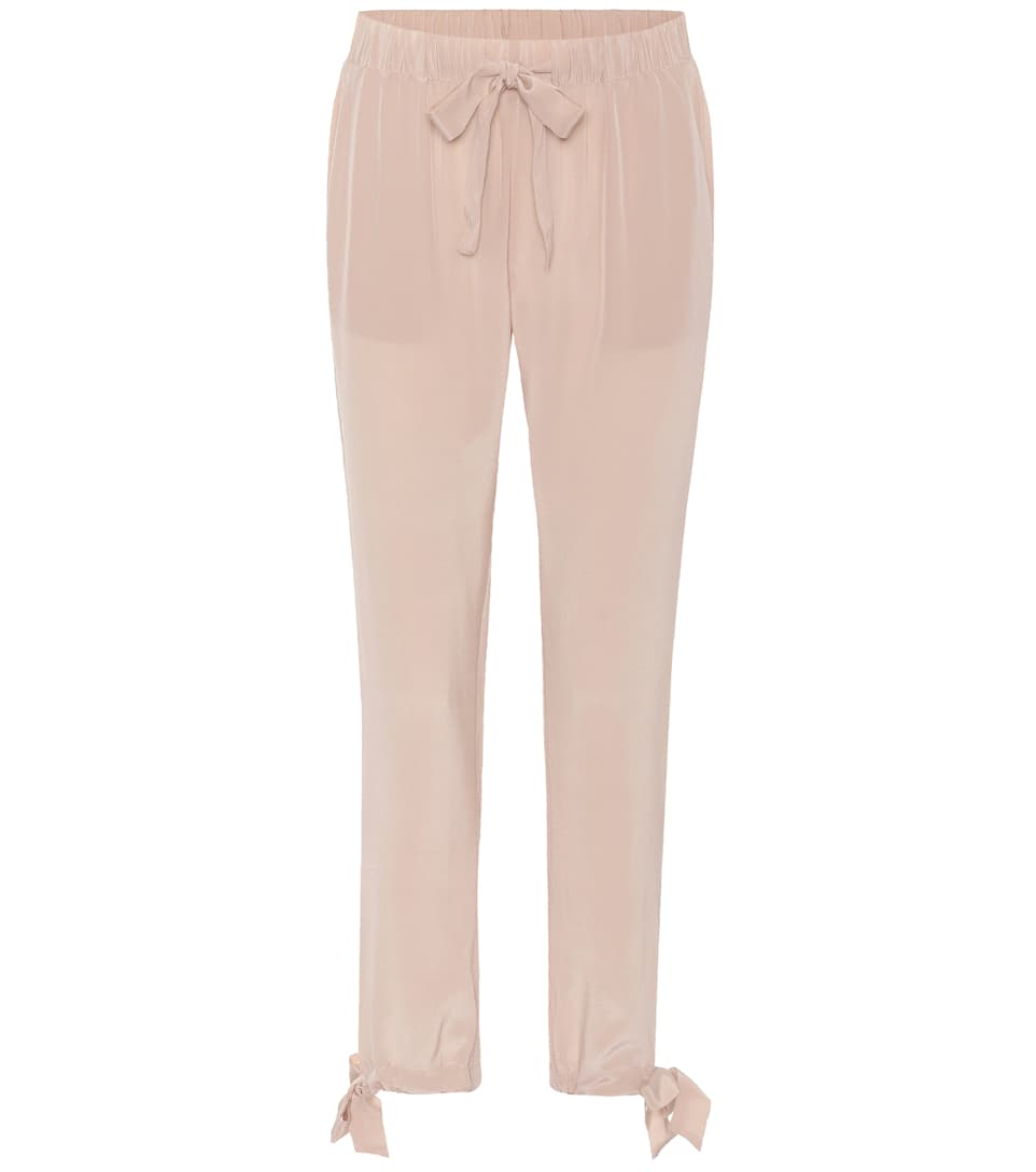 Sue Silk Crêpe De Chine Trousers by 81hours