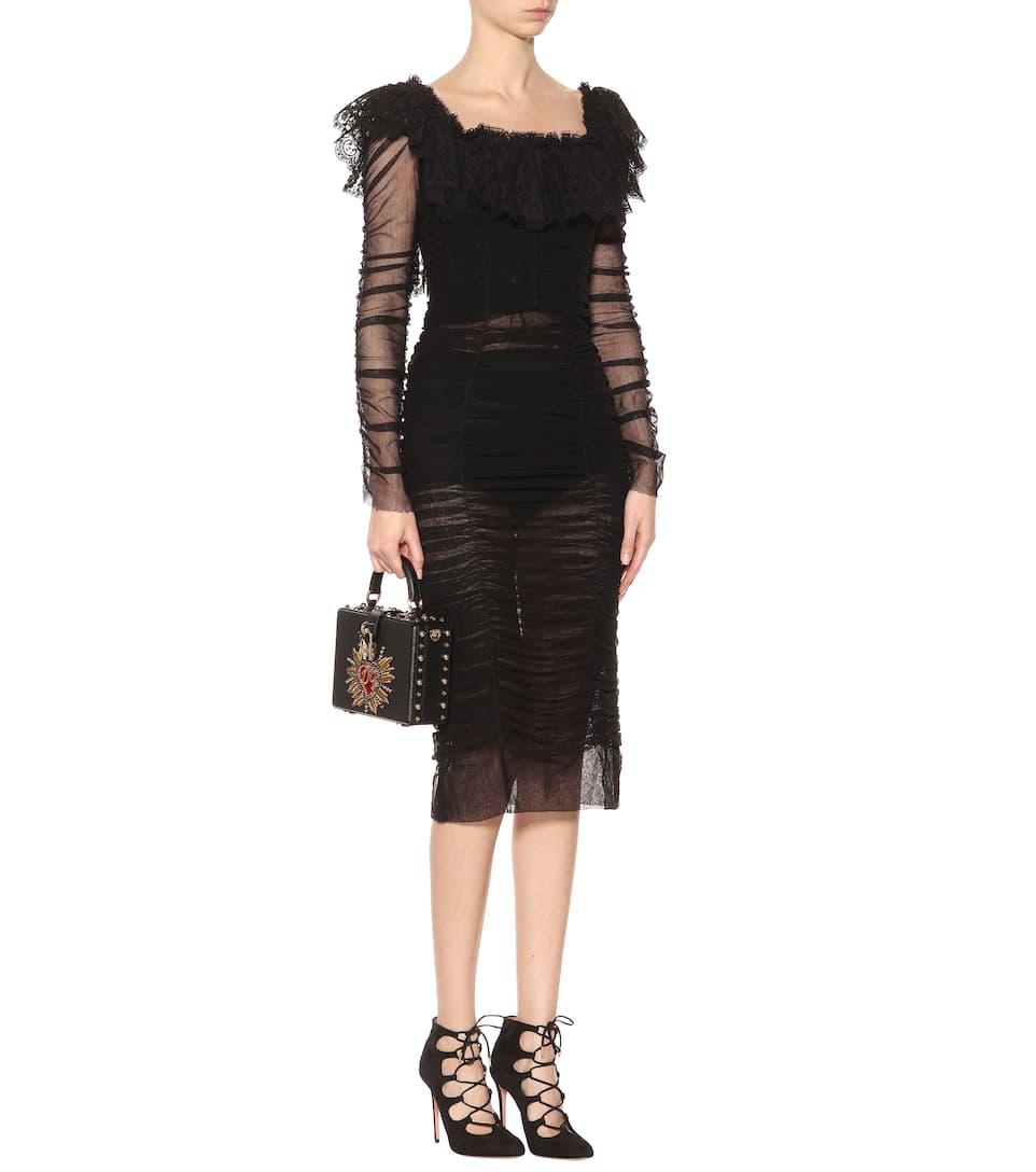 Dolce & Gabbana Kleid aus Tüll Vorbestellung Steckdose Am Besten nTjoP