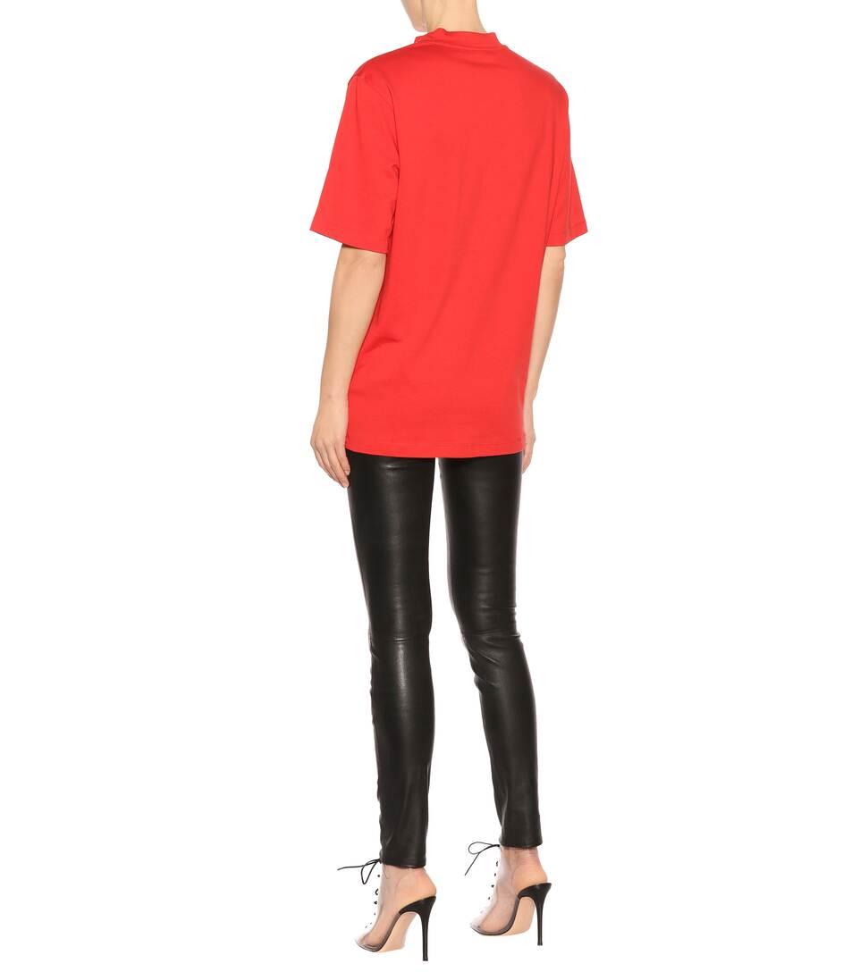 Helmut Lang Bedrucktes T-Shirt aus Baumwolle