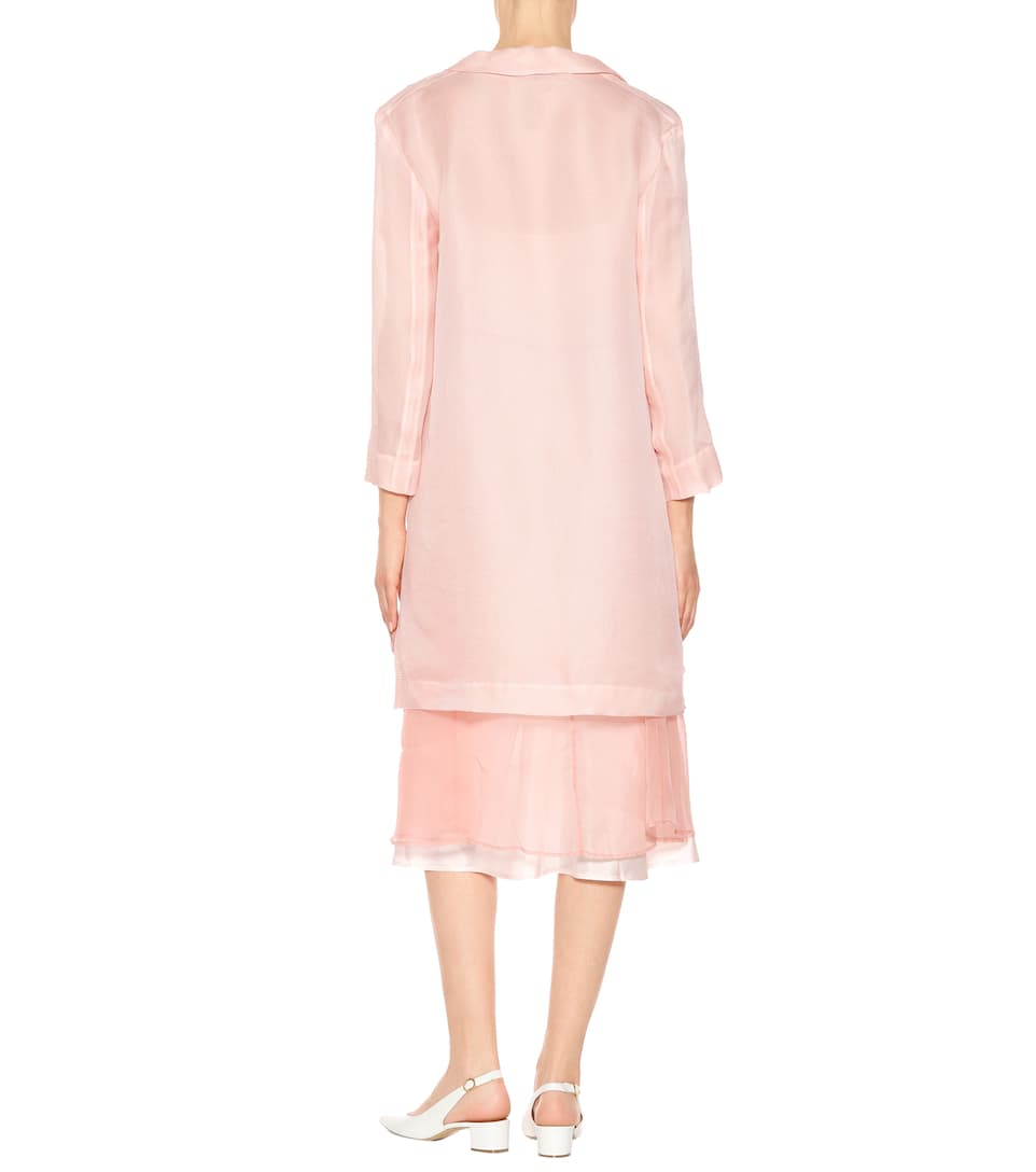 Mansur Gavriel Coat In Silk