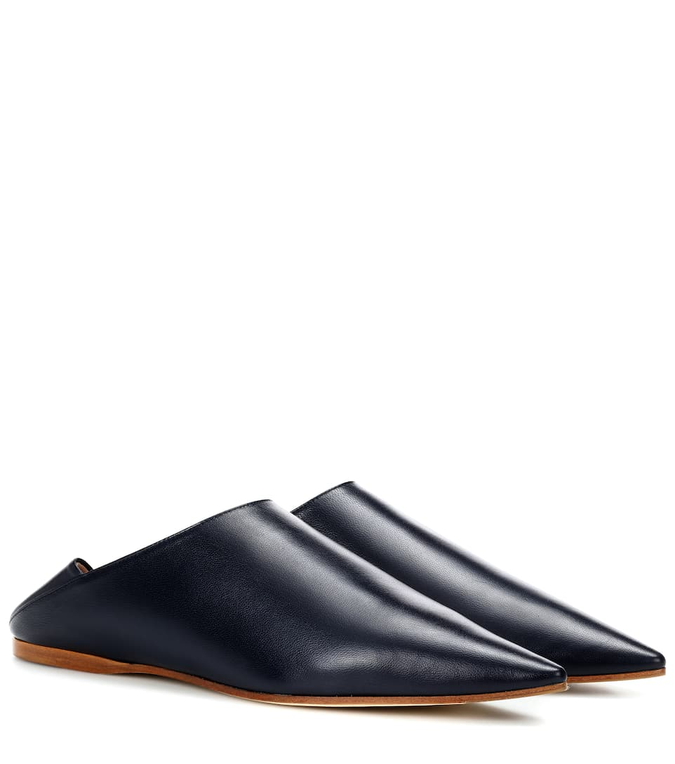 Exclusive To Mytheresa.Com   Amina Leather Babouche Slippers by Acne Studios