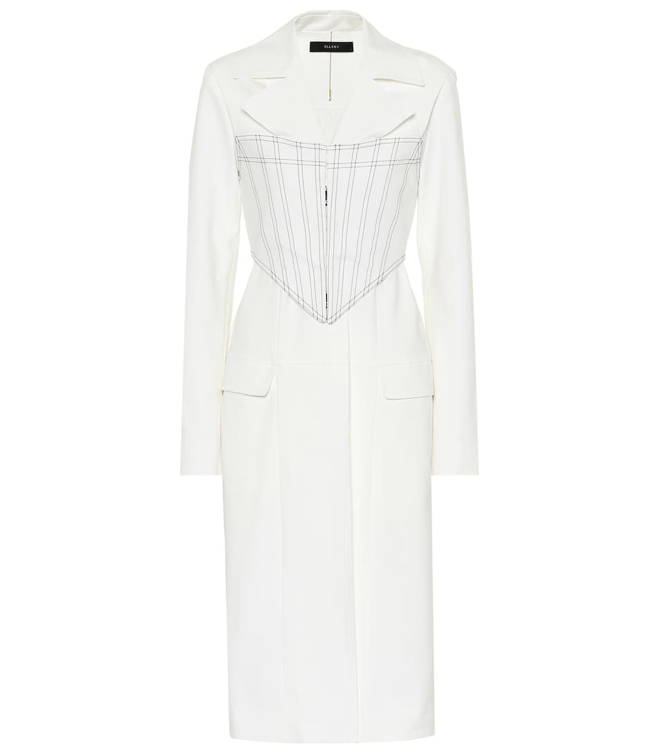 Ellery VISUAL PUN CORSET STRETCH COTTON COAT