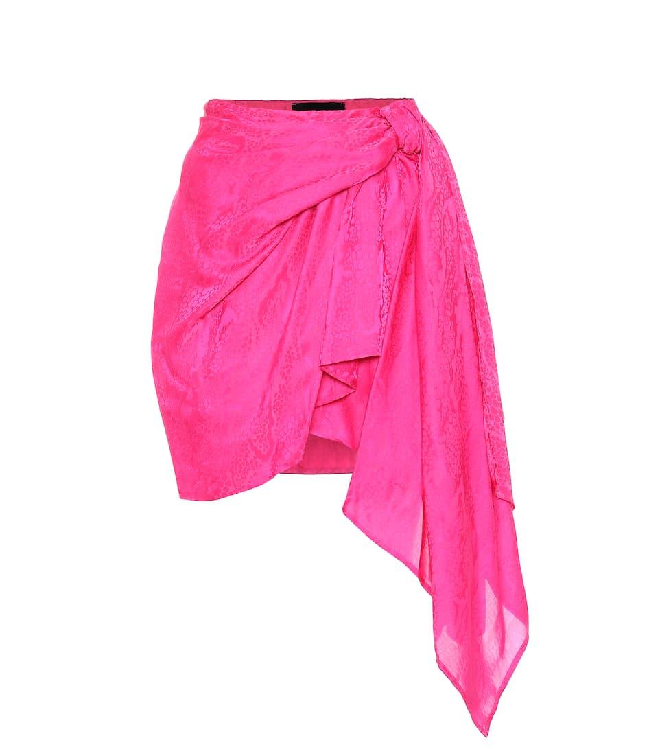 555cc2b78650 Shoptagr | Asymmetric Silk Blend Miniskirt by Dundas