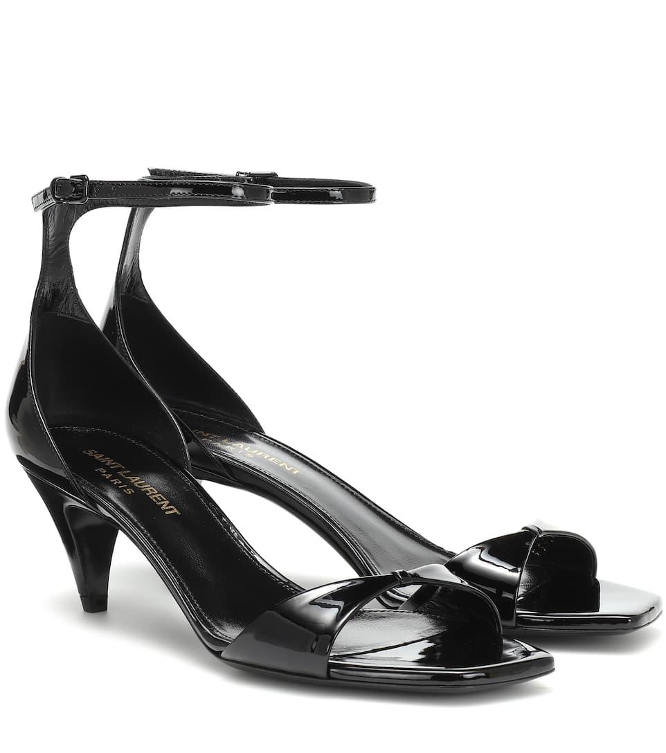 f3b60ca7a9e Charlotte Patent Leather Sandals - Saint Laurent