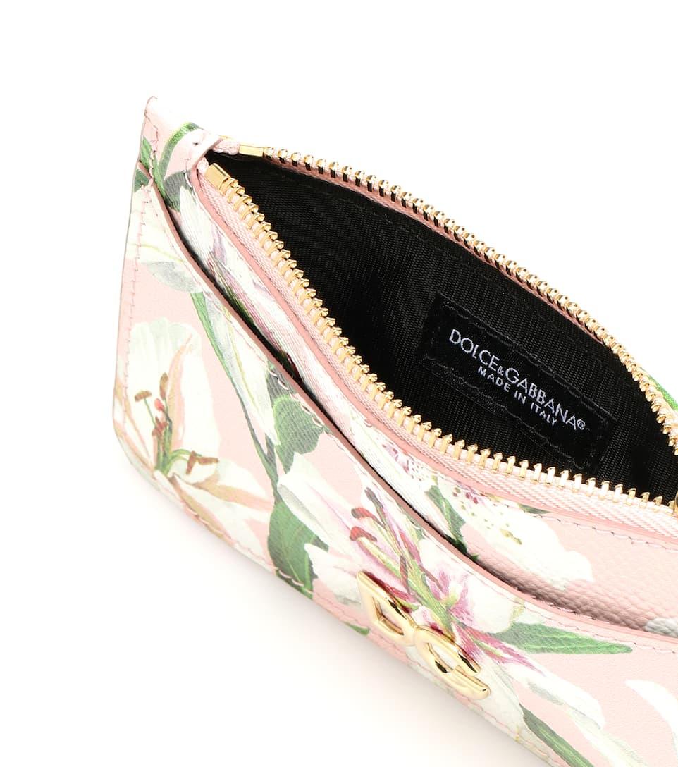 Cuir cartes Dolceamp; Imprimé En Gabbana Porte ZiPkXu