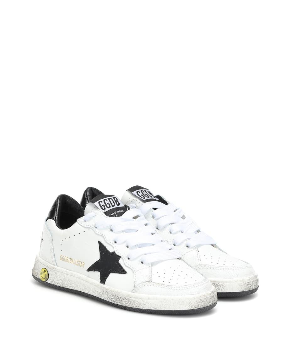 Superstar Leather Sneakers - Golden Goose Kids   Mytheresa