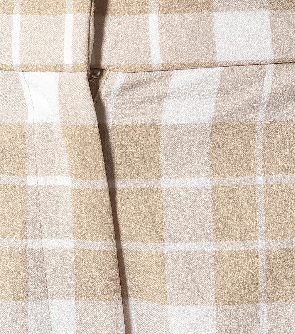 MM6 Maison Margiela - High-rise checked straight pants