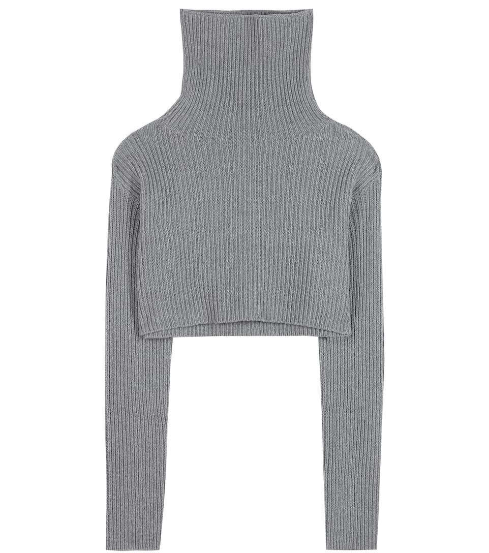 Valentino Cropped wool and cashmere turtleneck sweater