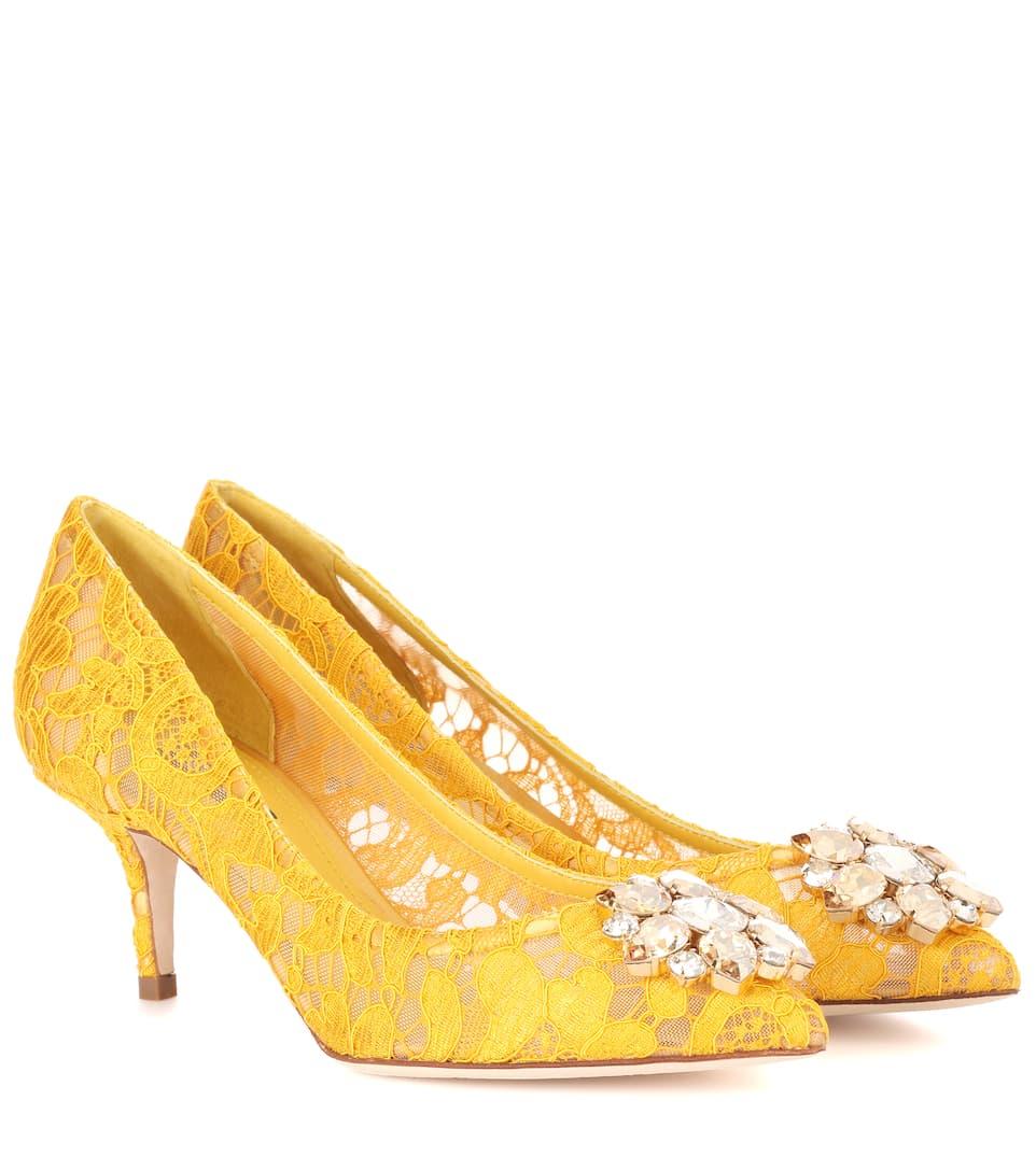Escarpins en dentelle ornements cristaux BellucciDolce & Gabbana iV7AmgEJIv