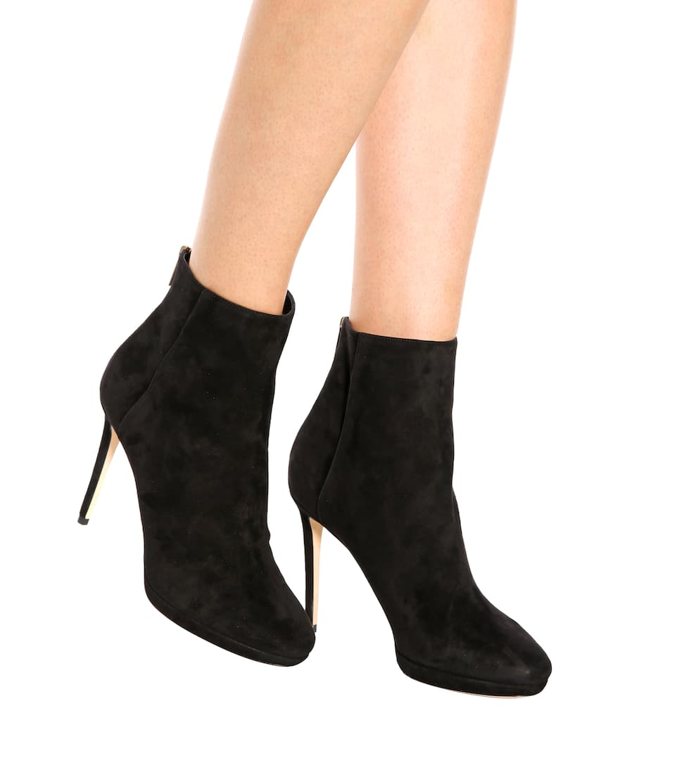 Jimmy Choo Ankle Boots Harvey 100 aus Veloursleder
