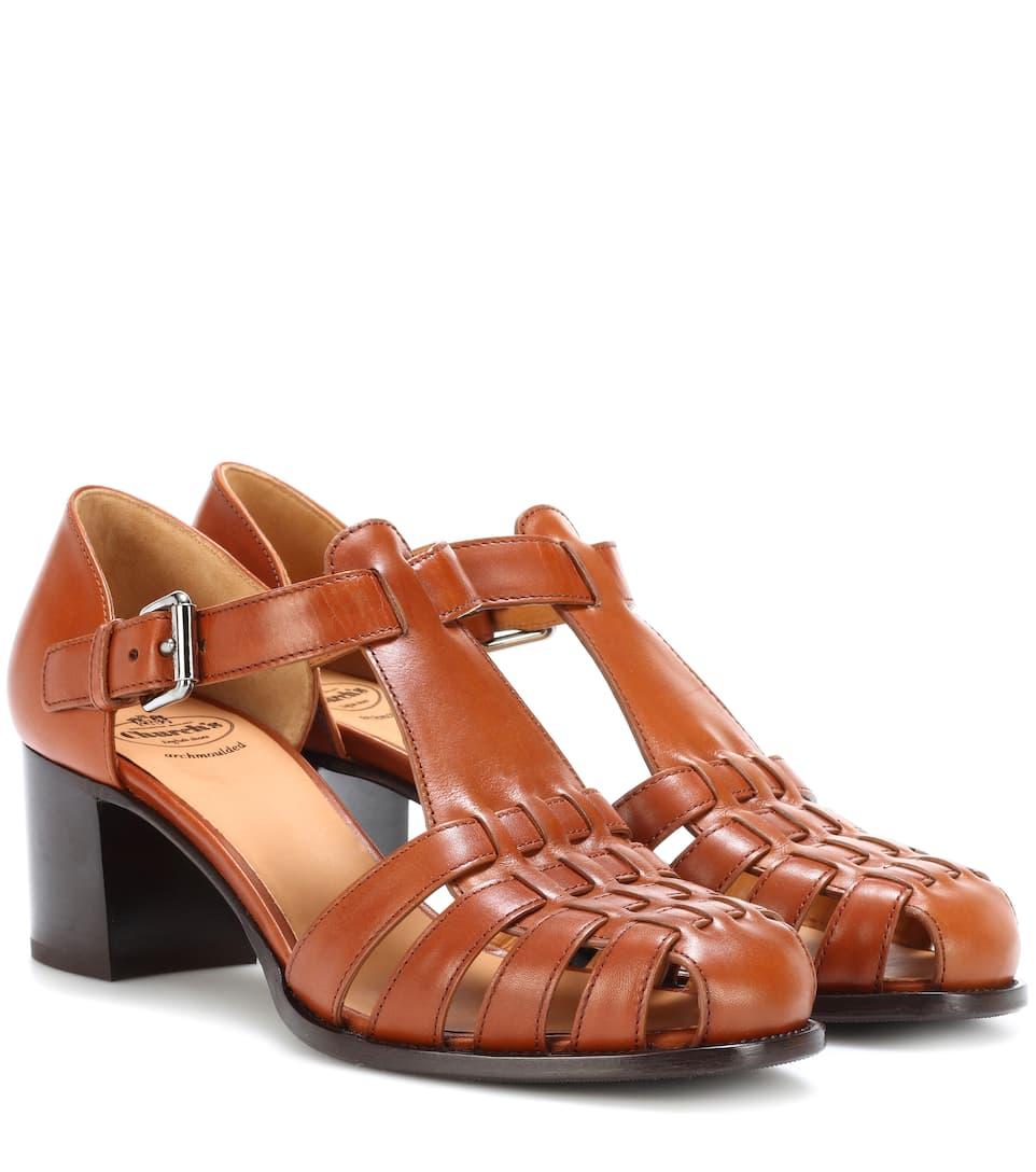 Leather sandals Churchs u6b5YA9