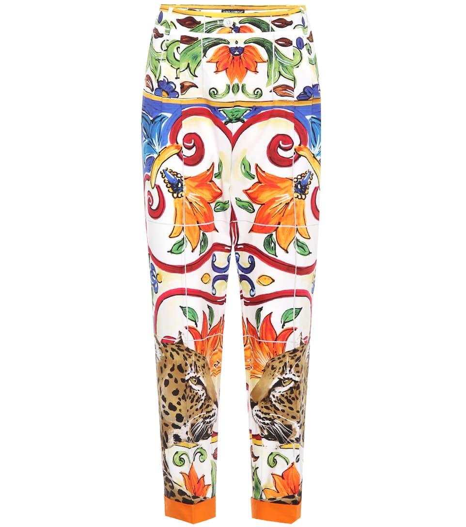 Pantalon En Coton Imprimé Dolce &; Gabbana