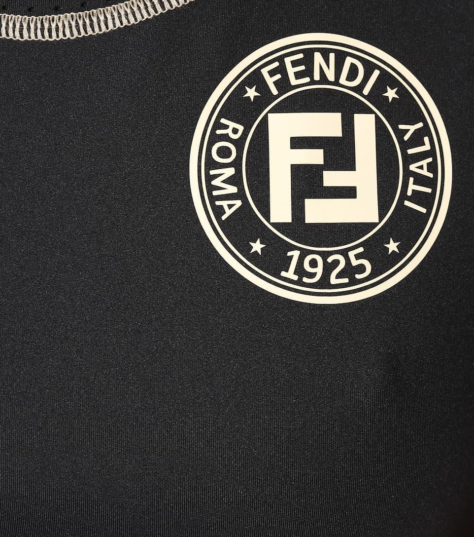 Fendi Fendi logo Top logo Top Top sportivo sportivo con Fendi con 6rwPqU6