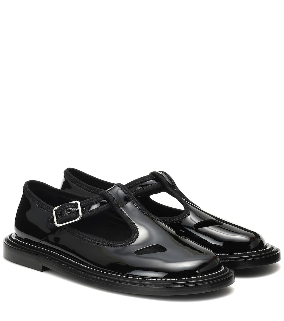 Alannis Patent Leather Mary Jane Flats