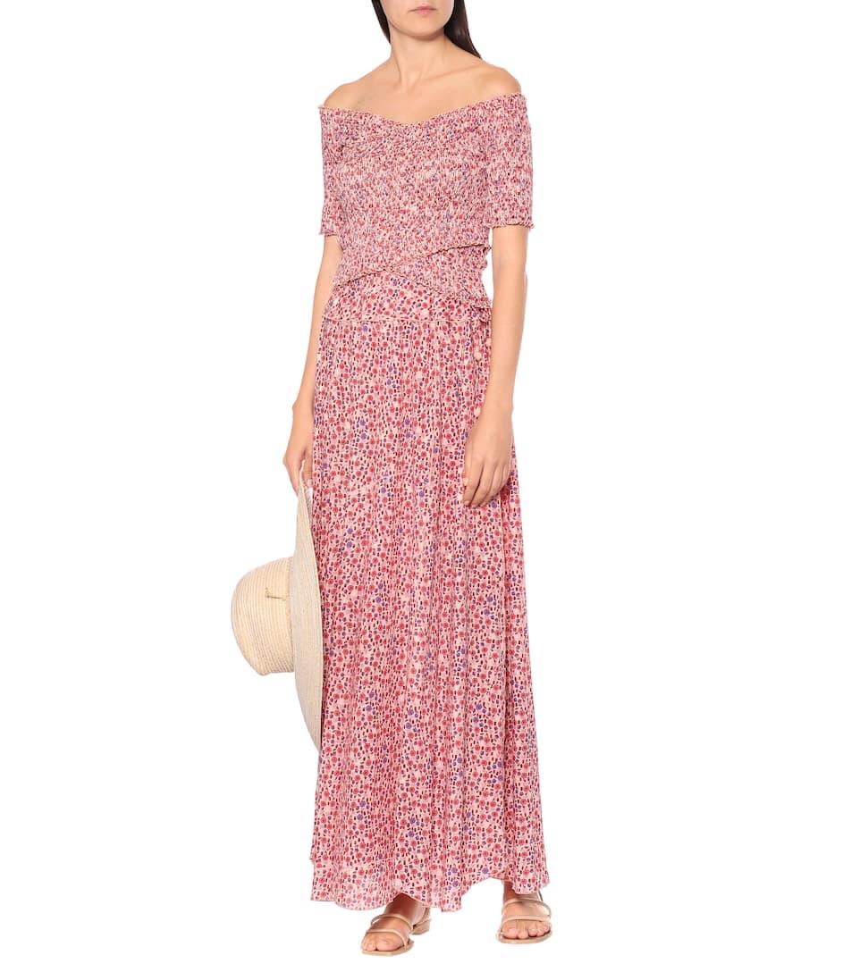 Poupette St Barth - Jenna floral twill maxi skirt