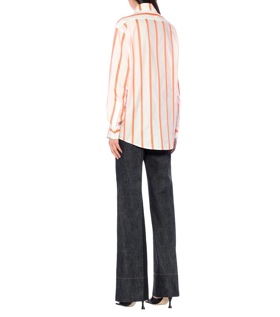 Victoria Beckham - Striped cotton-blend shirt