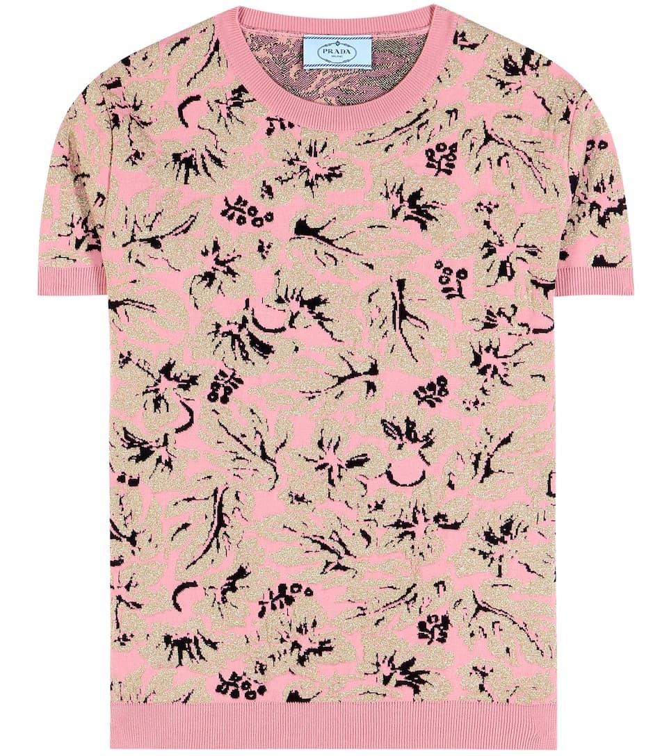 Prada Printed wool-blend shirt