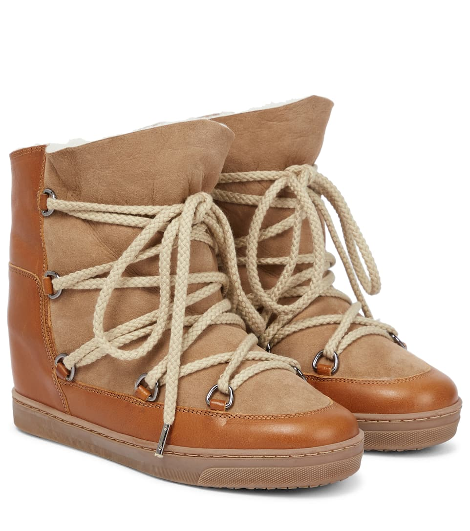 Zeppa Nowles Suede Isabel Stivaletti In Con Marant PIgAgaqn