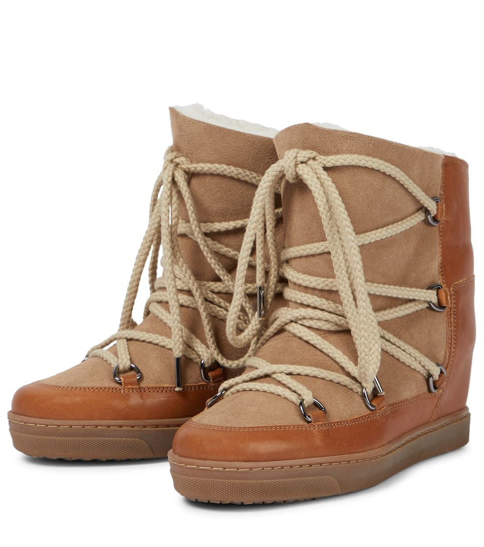 Isabel Marant Étoile Wedge-Booties Nowles mit Shearling-Futter