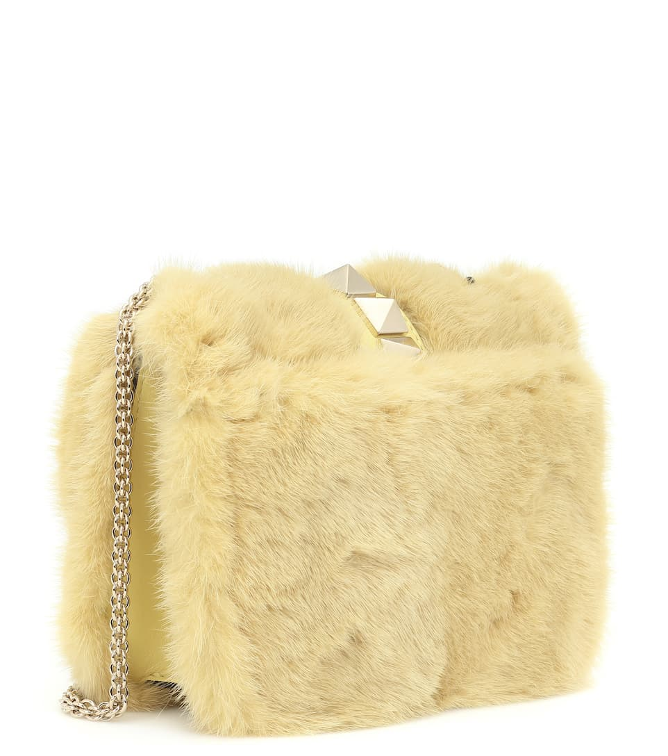 Valentino Valentino Shoulder Bag Lock Mini Of Leather And Mink