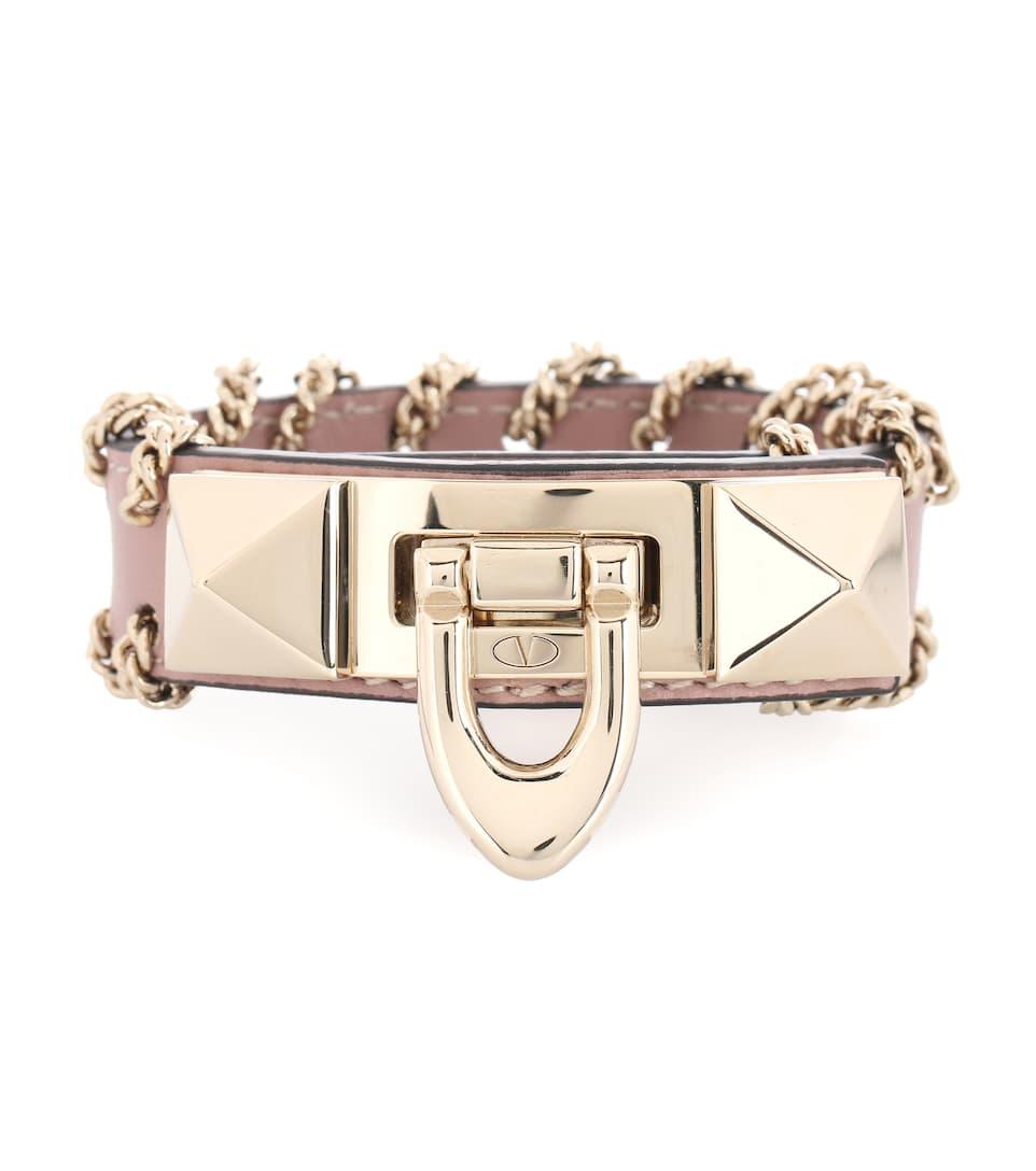 Valentino - Valentino Garavani - Bracelet en cuir Rockstud Wiki En Ligne Pas Cher qa6Ii8z