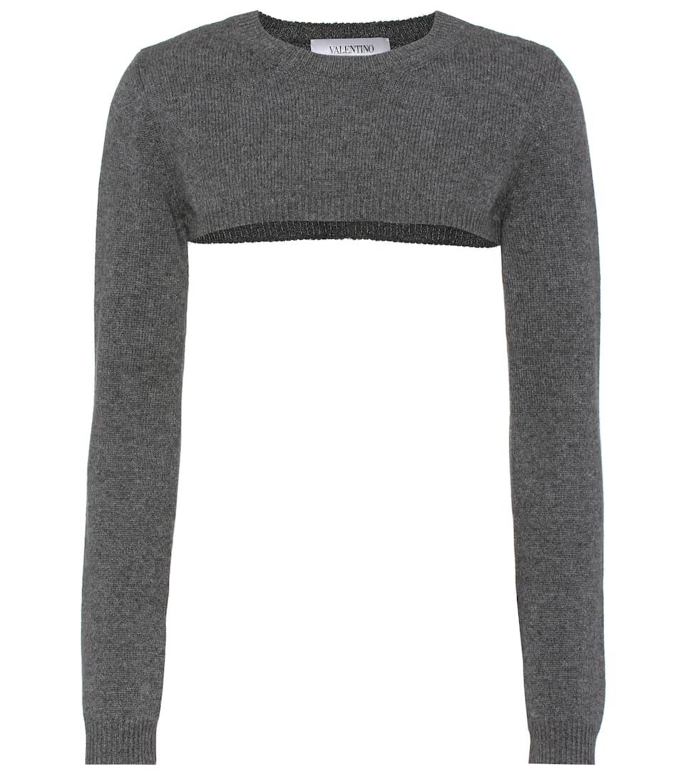 Valentino - Cropped cashmere sweater | mytheresa.com