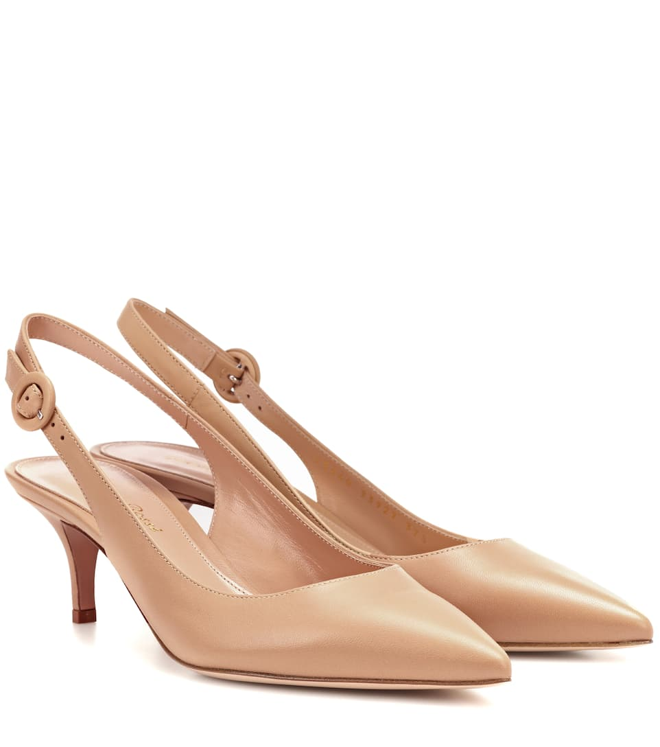 Exclusive to mytheresa.com - Anna leather slingback pumps Gianvito Rossi Gzybixam