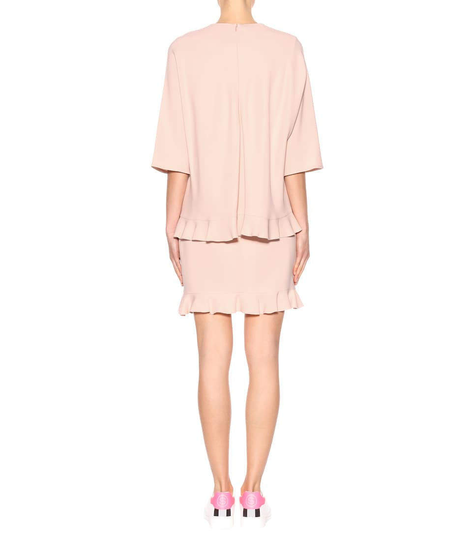 de vestido rosa Stella McCartney crepe qaTzw07n