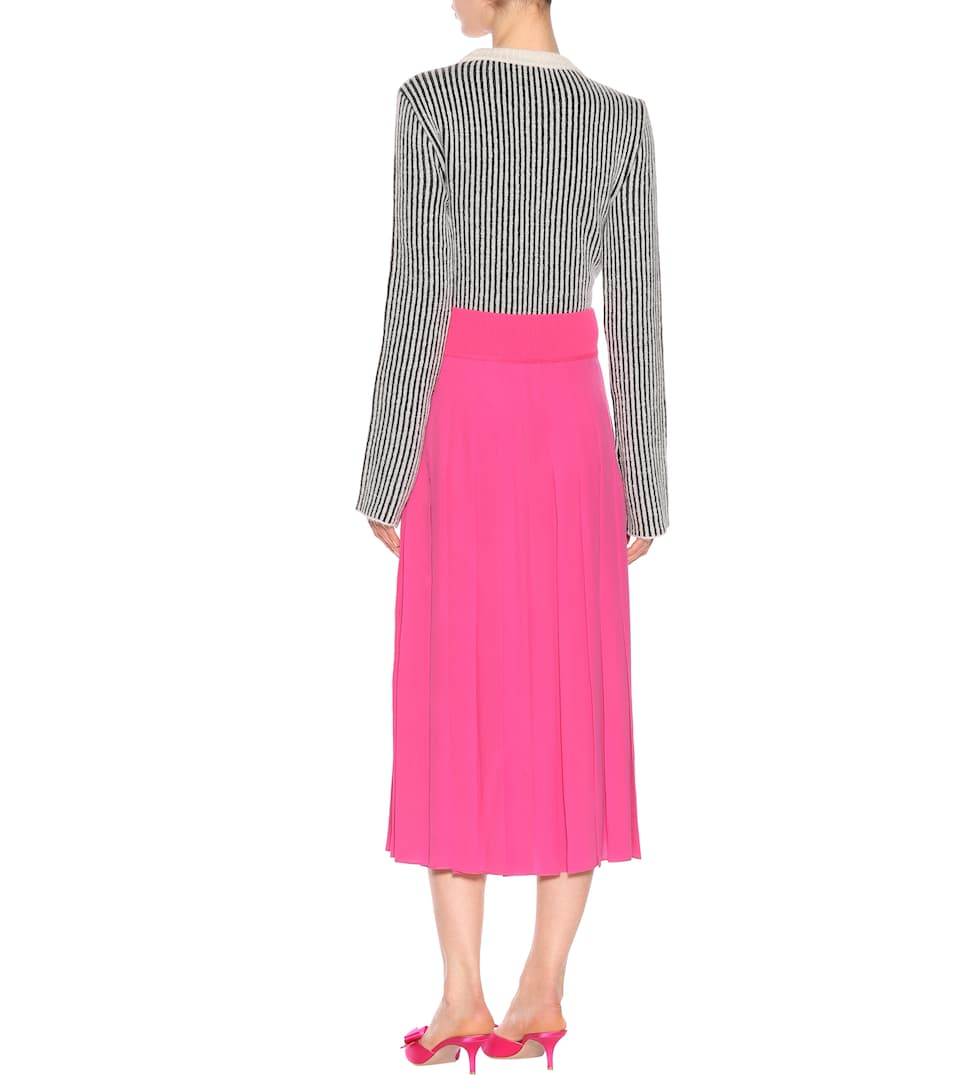 Fendi Midi Skirt In Silk