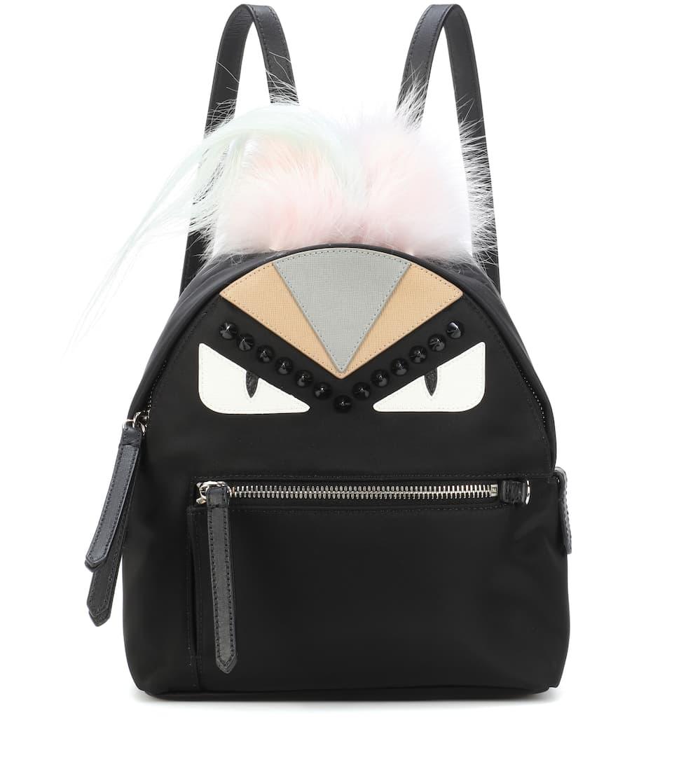 Fur-Trimmed Mini Backpack in Female