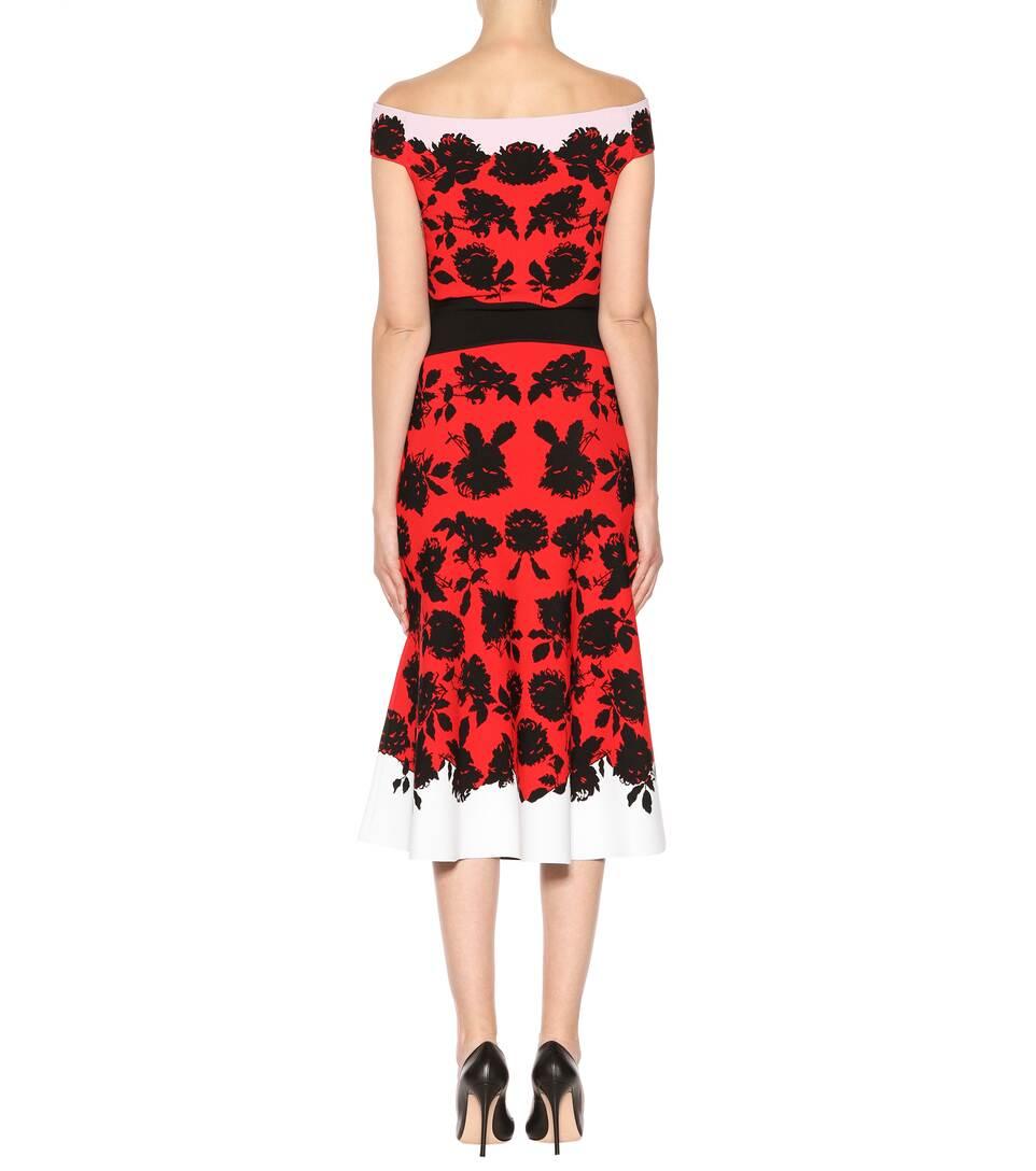 Alexander McQueen Off-Shoulder-Kleid