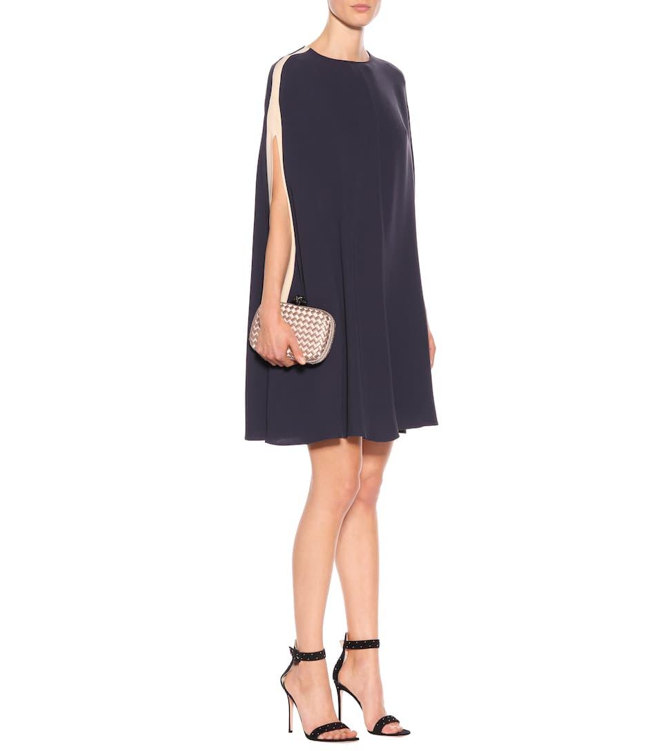 Valentino Cape-Minikleid aus Seidengeorgette